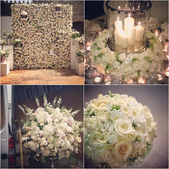 By appointment only design white and cream rose designs