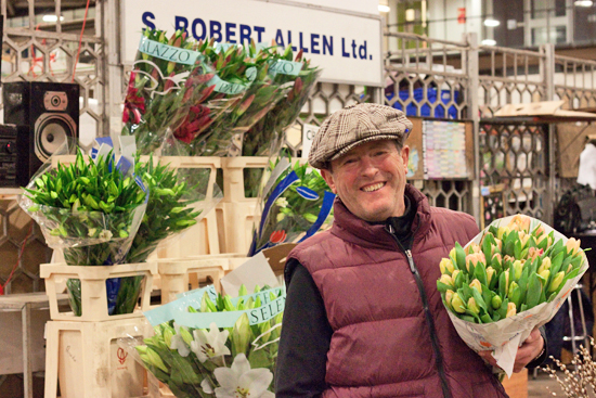 Trevor of S Robert Allen at New Covent Garden Flower Market
