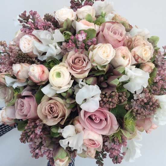 Nikki Tibbles Wild at Heart arrangement using Lilac