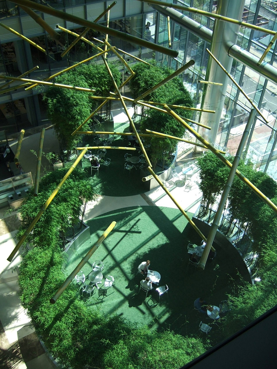 Corporate Bank Atrium Space - Canary Wharf
