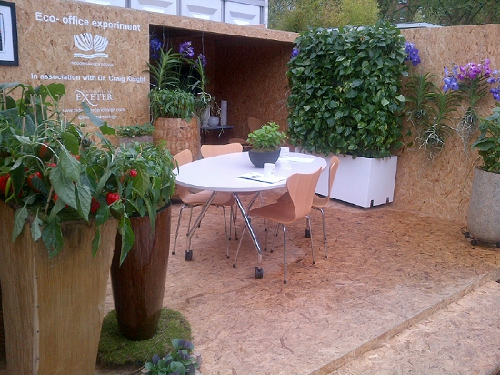 Plantpeople of the Year 2013 - Indoor Garden Design - Chelsea Flower Show 2013: Eco-Office Experiment