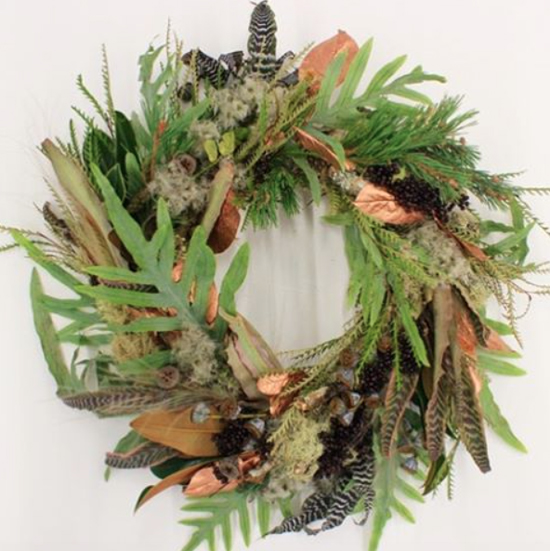 Rebel Rebel natural look wreath