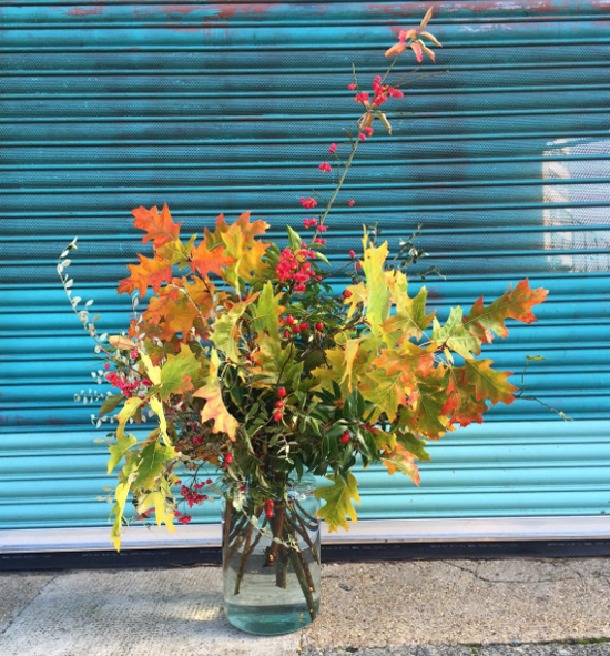 Rebel Rebel design using Autumn Foliage at New Covent Garden Flower Market - October 2015