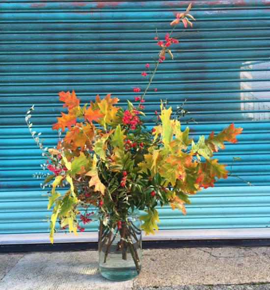 Rebel Rebel design using Autumn Foliage at New Covent Garden Flower Market - October 2015