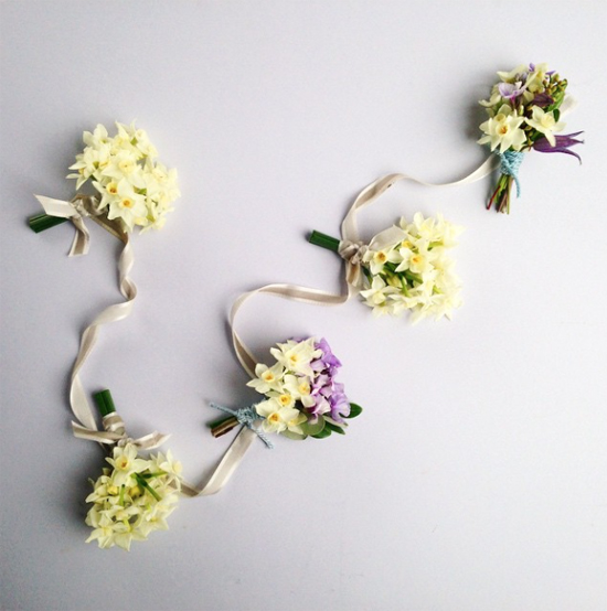Sabine Darrall design using narcissi and daffodils