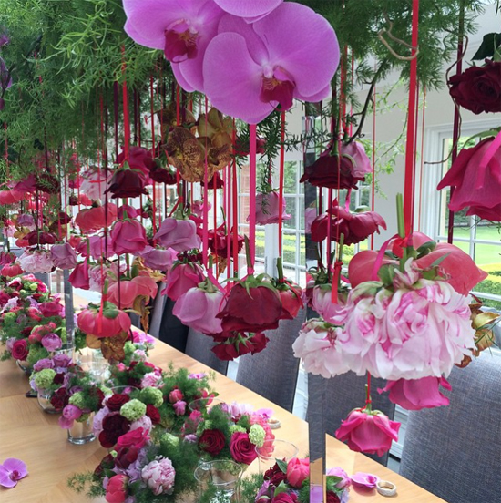 Simon Lycett's design using pink roses