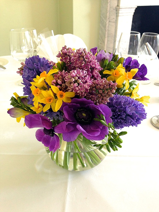 Sophie Townsend's spring flowers table decoration featuring anemones