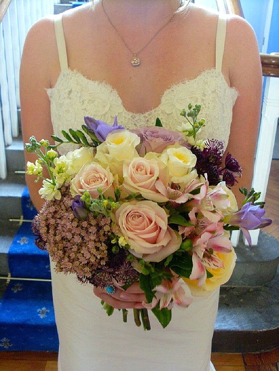 Sophie Townsend's bouquet using sedums