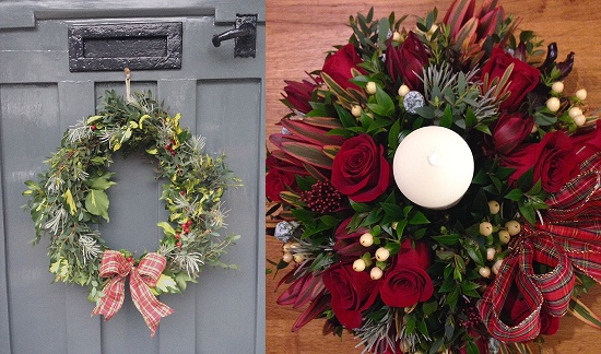 Christmas arrangements by Sophie Townsend