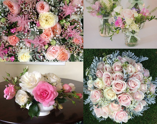 Sophie Townsend's arrangements using pink roses