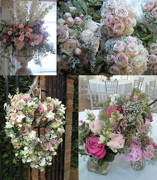 The Topiary Tree's arrangements using pink roses