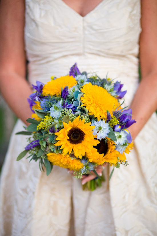 Sunflower Bridal Boquet - Style Me Pretty - New Covent Garden Flower Market - Sunflowers Product Profile