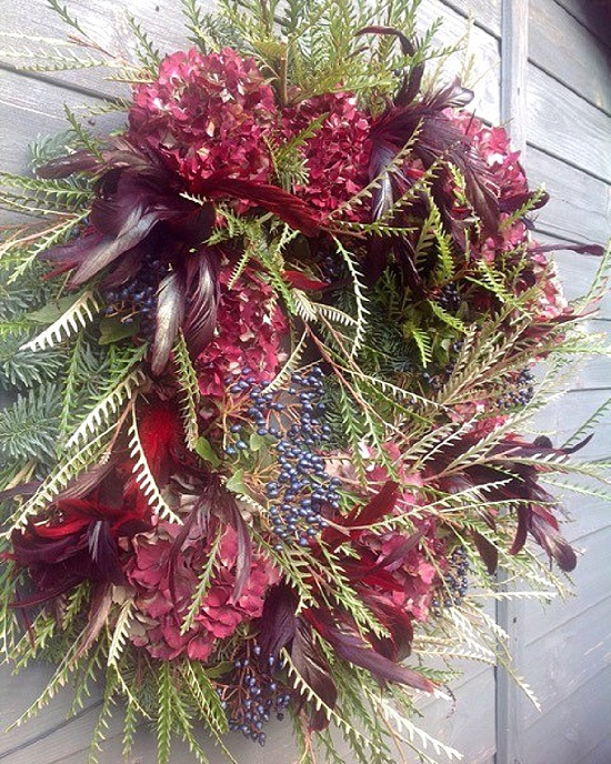 The Velvet Daisy Christmas wreath