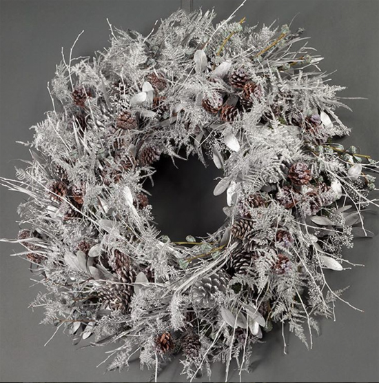 Wild at Heart white metallic wreath
