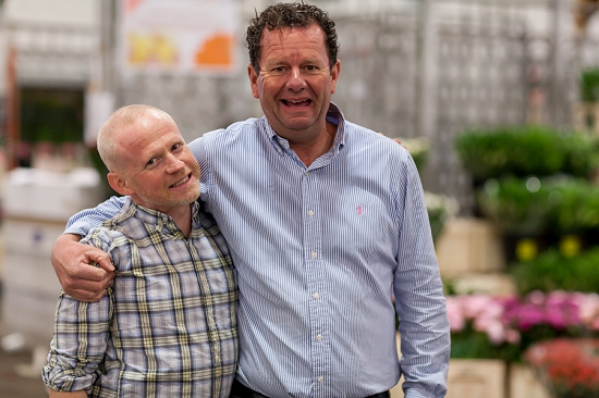 Duncan McCabe of McQueens with Graeme of Zest during British Flowers Week 2014 at New Covent Garden Flower Market