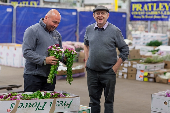 Alan Simpson of Hybrid during British Flowers Week at Pratley at New Covent Garden Flower Market