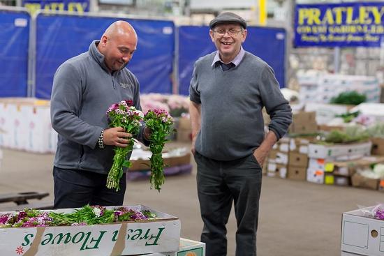 Alan Simpson of Hybrid during British Flowers Week at Pratley at New Covent Garden Flower Market