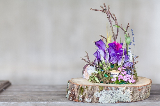 Okishima & Simmonds' Lisianthus Cloche Garden designed for British Flowers Week at New Covent Garden Flower Market
