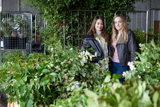 Jessica Simmonda and Chikae Okishima-Howland of Okishima & Simmonds at New Covent Garden Flower Market for British Flowers Week 2014