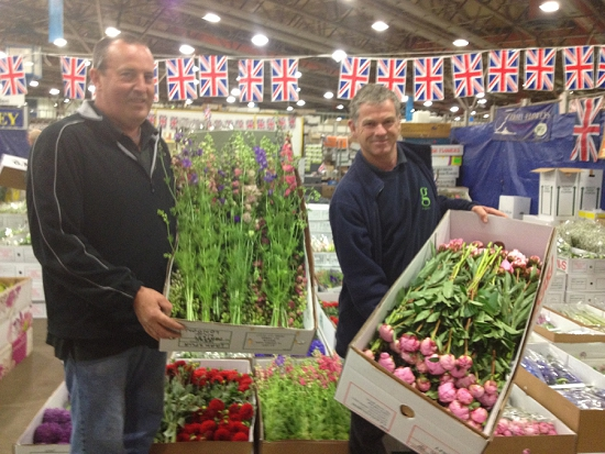 Pratley Pack Competition at New Covent Garden Flower Market for British Flowers Week 2014