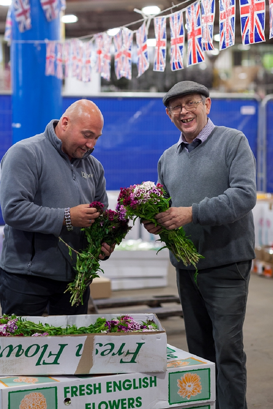 Alan Simpson of Hyrid during British Flowers Week at Pratley at New Covent Garden Flower Market