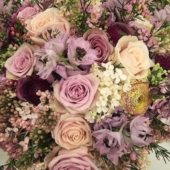 By Appointment Only Design - Tony Marklew's arrangement using Lilac