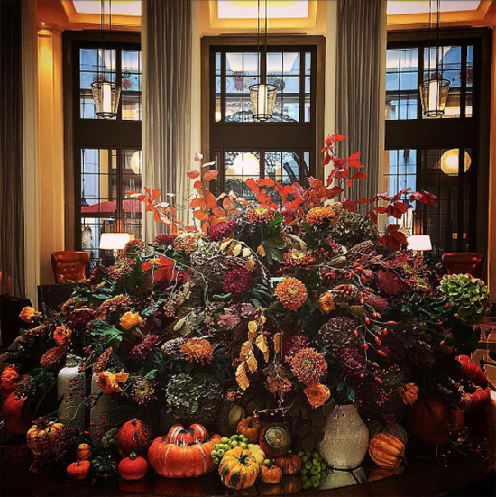 By Appointment Only Designs using Autumn Foliage at New Covent Garden Flower Market - October 2015