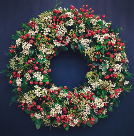 Floral Starkey wreath design