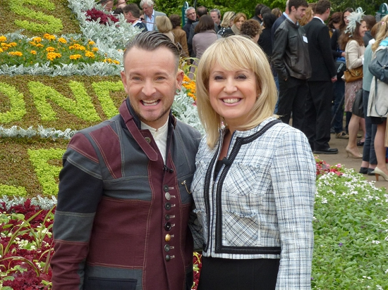 New Covent Garden Market Florist of the Year 2013 - Simon J Lycett with Nicki Chapman