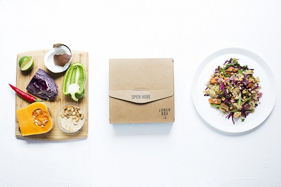 Lunch bxd produce and packaging