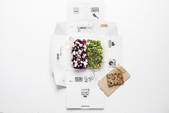 Lunch bxd packaging open