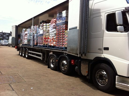 Steve Moore's fully loaded lorry