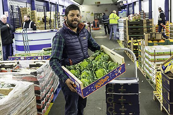 Leslie Singh at New Covent Garden Market