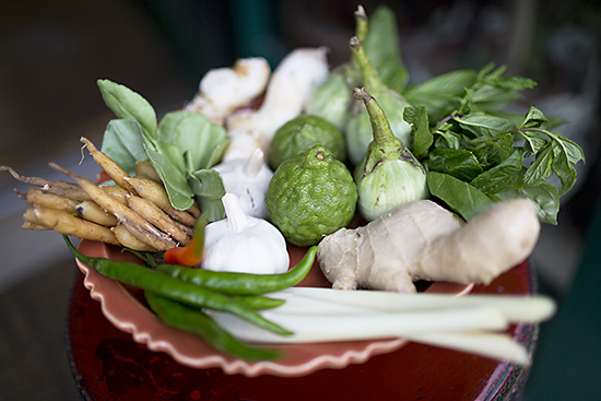 South East Asian ingredients at Mama Thai Restaurant