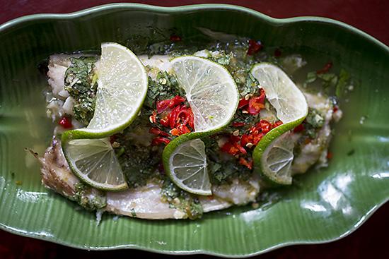 Sea bass at Mama Thai