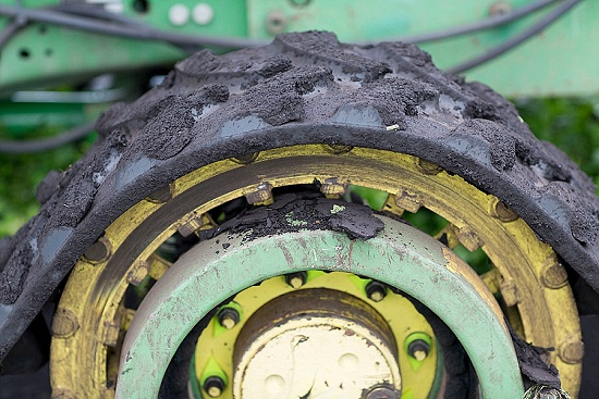 Tractor tyre with Fens soil