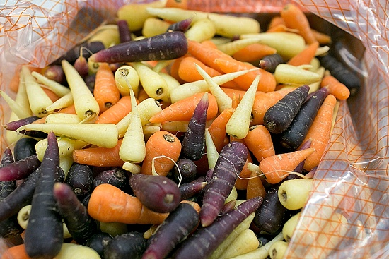 Chanternay Carrots and Piccolo Parsnips at New Covent Garden Market - November 2015