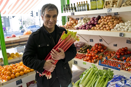 Aziz Ahsak at his grocers - Swiss Cottage. Buys from New Covent Garden Market