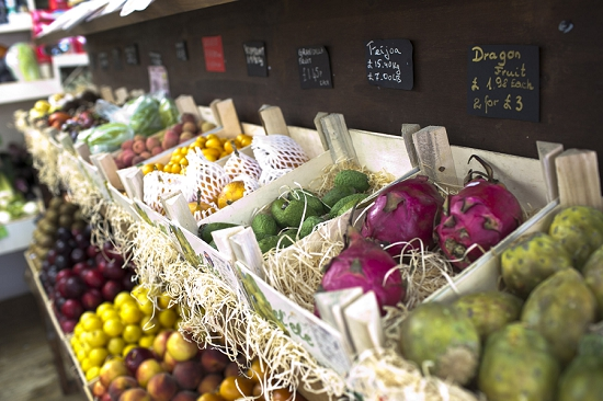 Exotics at Swiss Cottage Grocers who buy from New Covent Garden Market