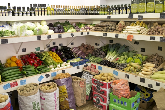 Produce at Swiss Cottage Grocers who buy from New Covent Garden Market