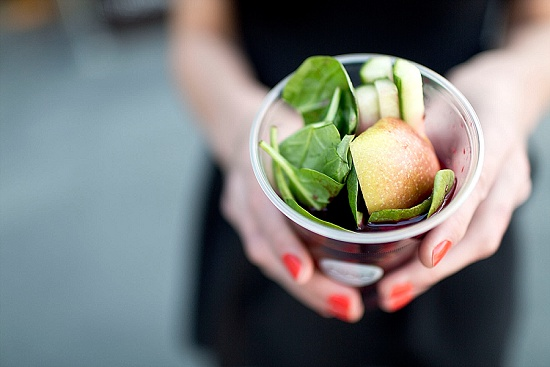 Pod's apple, spinach, cucumber and fruit Blitz