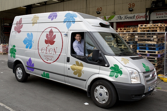 Eden caterers and their van
