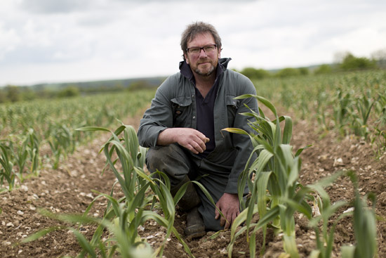 Mark Botwright of South West Garlic Farm