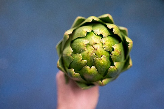 Globe artichoke at New Covent Garden Fruit & Vegetable Market - January 2016