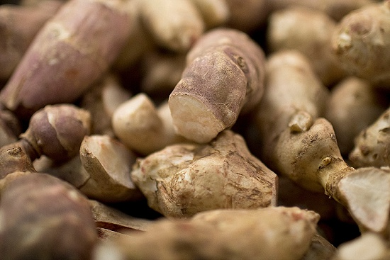 British Jerusalem artichokes at New Covent Garden Fruit & Vegetable Market - January 2016