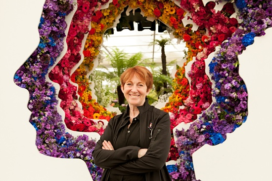 Ming Veevers Carter, the designer of Behind Every Great Florist by New Covent Garden Market at RHS Chelsea Flower Show