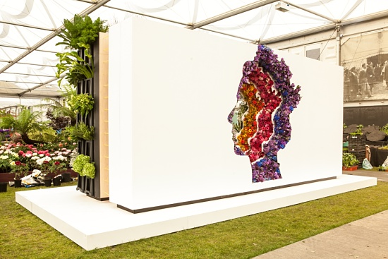 In the middle - Behind Every Great Florist by New Covent Garden Market at RHS Chelsea Flower Show