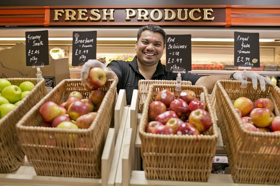 Produce on display in Partridges