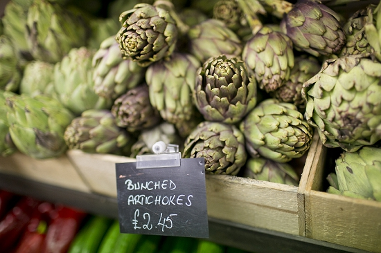 Parkway Greens  attractive display of globe artichoke