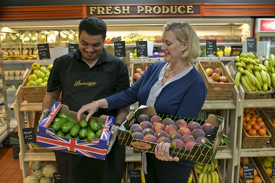 Ruth Holbrook and Shaun Joseph Fernandez from Partridges at New Covent Garden Fruit and Vegetable Market - August 2014